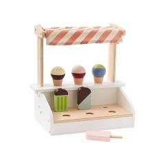Kid's Concept Chariot De Crème Glacée En Bois Avec Crèmes Glacée