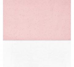 Jollein Drap De Lit Mini Rose Fard À Joues Points - 120 Cm X 150 Cm
