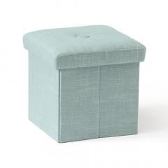 Kid'S Concept Pouf + Boîte De Rangement Bleu Clair