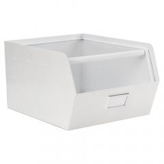 Kidsdepot Boîte de Rangement en Métal Blanc Original
