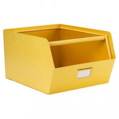 Kidsdepot Boîte de Rangement en Métal Jaune Original