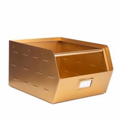 Kidsdepot Boîte de Rangement en Métal Or Original