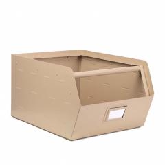 Kidsdepot Boîte de Rangement en Métal Beige Original
