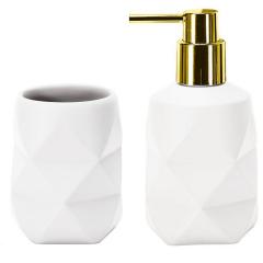 Kleine Wolke Badkamer Set Golden Crackle Wit