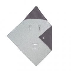 Lässig Wikkeldeken Voor Autostoel Knitted Blanket Antraciet