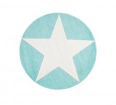 Livone Tapis Happy Rugs Star Round Mint - Blanc Ø 133 Cm