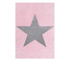 Livone Tapis Happy Rugs Stars Rose - Gris 120 Cm X 180 Cm