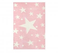 Livone Tapis Happy Rugs Stars Rose - Blanc 160 Cm X 230 Cm