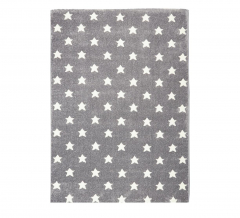 Livone Tapis Happy Rugs Little Stars Gris - Blanc 120 Cm X 180 Cm