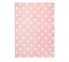 Livone Tapis Happy Rugs Little Stars Rose - Blanc 120 Cm X 180 Cm