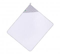Lulando Peignoir Bébé & Gant De Toilette White Stars On Gray