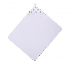Lulando Peignoir Bébé & Gant De Toilette Gray Stars On White
