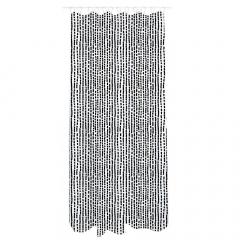 MyHome Douchegordijn 180 x 200 cm Zip Black White