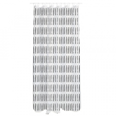 MyHome Douchegordijn 180 x 200 cm Zip White Black
