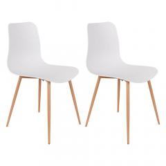 Nesthaus Chaise de Salle à Manger Jens Blanc - 2 Pcs