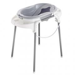 Rotho Babydesign Baignoire Bébé avec Support Top Stone Grey