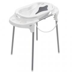Rotho Babydesign Baignoire Bébé avec Support Top Blanc