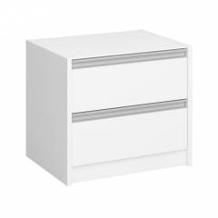 Steens Table de Chevet Skyline 2 Tiroirs Blanc
