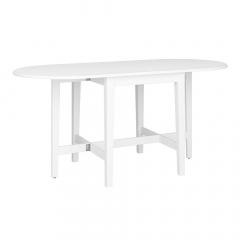 Steens Table Pliante - Table de Salle à Manger 166 cm Venice Blanc