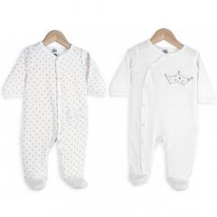 Trois Kilos Sept Pyjama Bébé Set 6 Mois Dots & White