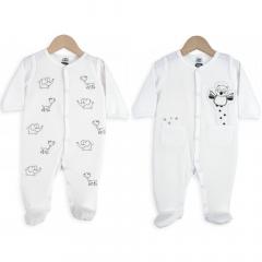 Trois Kilos Sept Pyjama Bébé Set 6 Mois Elephants & Owl