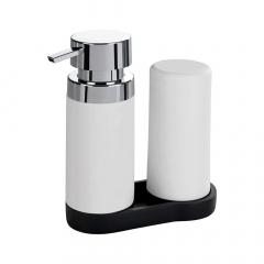 Wenko Distributeur De Savon Et Détergent Liquide Easy Squeez-E White