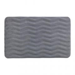 Wenko Badmat Waves 50 x 80 cm Lichtgrijs