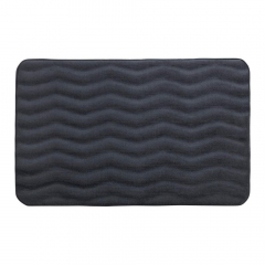 Wenko Tapis de Bain Waves 50 x 80 cm Anthracite