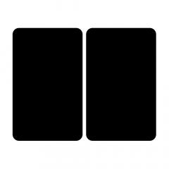 Wenko Universele Afdekplaat Zwart – 2 Stuks