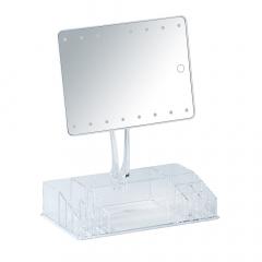Wenko Miroir de Maquillage LED avec Organisateur Farnese