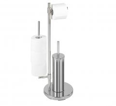 Wenko Toiletrolhouder Met Borstel Universalo Neo Chrome