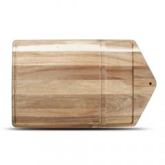 Wood&Food Planche de Service avec Tranche 53x31 cm