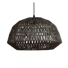 Woood Hanglamp Kace Jute Zwart