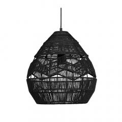 Woood Hanglamp Ø 35 cm Adelaide Jute Zwart
