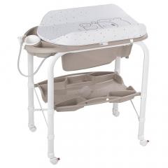 Cam Table à Langer avec Baignoire Bébé Cambio Blanc-Sable
