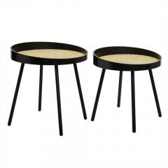 Eazy Living Table Gigogne set Bianca Ø 38 cm - Ø 45 cm