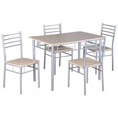 Stozy Eetkamerset 5-delig Rubia - Eettafel Met 4 Stoelen