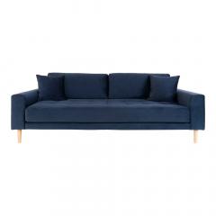 House Collection Velvet 3-zitsbank Milo Donker Blauw