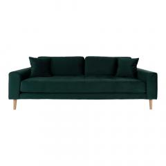 House Collection Velvet 3-zitsbank Milo Donker Groen