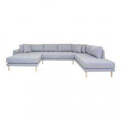 House Collection Hoekbank Milo U-Sofa met Open Linkse Hoek Licht Grijs