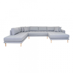 House Collection Hoekbank Milo U-Sofa met Open Rechtse Hoek Licht Grijs