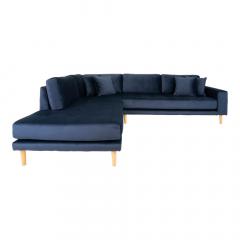 House Collection Velvet Hoekbank Milo met Open Linkse Hoek Donker Blauw