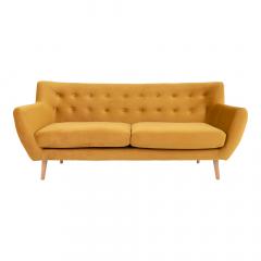 House Collection Velvet 3-zitsbank Lara Mosterdgeel