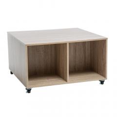 Eazy Living Table Basse à Roulettes Nara Beige