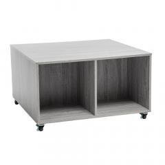Eazy Living Table Basse à Roulettes Nara Gris