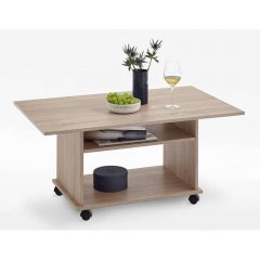 Ipari Table Basse à Roulettes Marcel Bois