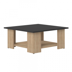 Interia Table Basse Zita Noir - Chêne