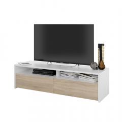 Pato TV-meubel 2-deurs Jack Wit - Eik