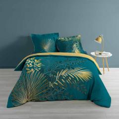 Housse de Couette Blue & Golden Jungle 240 cm x 220 cm