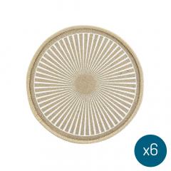 Placemat Bari Ø 38 cm Stripes - 6 Stuks